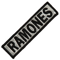 Ramones Men's Bar Logo Embroidered Patch Grey