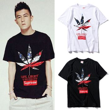 Cheap Women's and men's supreme t shirt for sale 85902898_0064