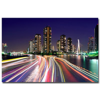 New York City Night Citycape Art Silk Poster Print 12x18 20x30 24x36 inches Modern Home Living Room Decor 37