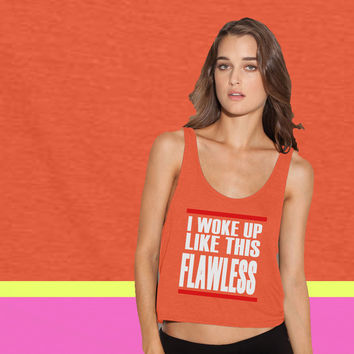 I WOKE UP LIKE THIS 4 ladies' flowy tanktop