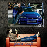 RIP Paul Walker Silk Wall Posters HD Big Modern Home Bedroom Decor Printings The Fast & Furious Movie Star Posters