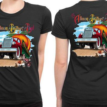 DCCKG72 Allman Brothers Band Orange Truck Poster 2 Sided Womens T Shirt