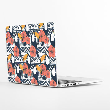 Tribal Pattern with Toucans Laptop Skin