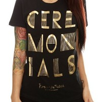 Florence + The Machine Ceremonials Gold Girls T-Shirt Size : X-Large