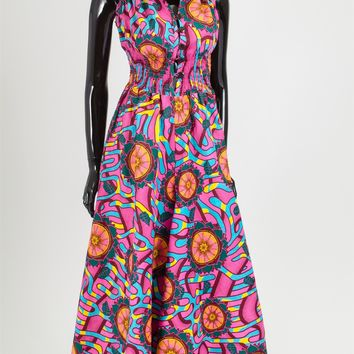 NF 5011 Authentic African Print Jumpsuit
