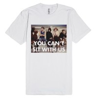 You Can't Sit With Us Breakfast Club-Unisex White T-Shirt