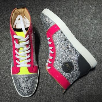 Cl Christian Louboutin Rhinestone Style #1931 Sneakers Fashion Shoes - Best Online Sale