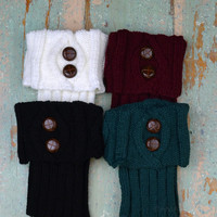 Buck Lodge Button Boot Cuff Leg Warmers