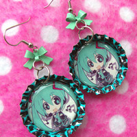 Hatsune Miku Vocaloid Anime Earrings