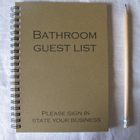 Bathroom Guest List - 5 x 7 journal