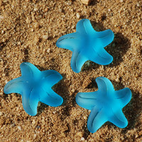 1PC 32mm Pacific Blue Large Starfish Recycled by BeadsintheSea