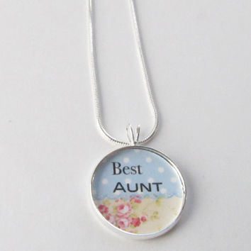 Best Aunt necklace-auntie,personalized jewelry,gift for aunts