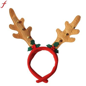 2017 Christmas Hair Accessory Decoration Party Antlers Head Hoop Photo Props  Women Christmas Headband Hair Accessories Dropship