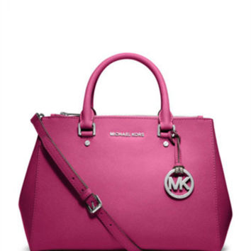 Michael Michael Kors Medium Sutton Saffiano Leather Satchel