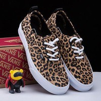 VANS Leopard Print Old Skool Canvas Flats Shoes Sneakers Sport Shoes