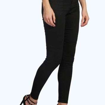 Holly High Rise Ankle Grazer Biker Skinny Jeans
