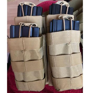 Molle Tactical Single Rifle Mag Pouch Open Top Bag for M4 M16 5.56 .223 Magazine Pouch Outdoor Walkie Talkie Bags Rifle Pocket