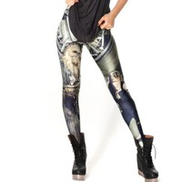 Fashion New Arrival Black Milk Digital Print Chewie and Han Leggings
