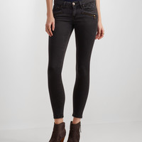 Dark Wash Zip-Pocket Jegging