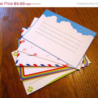 On Sale - Animal Crossing Stationery Notecards - Bright Set, 10 cards per set