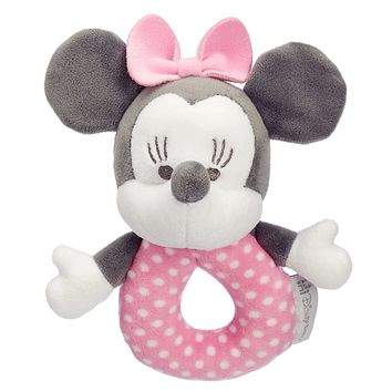 Disney Minnie Mouse Plush Rattle for Baby New with Tag