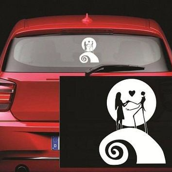 Jack and Sally Moon Nightmare Before Christmas Decal Sticker for Window Car Windows Truck Room
