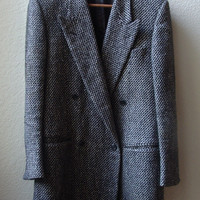 Vintage Tweed Oversize Wool Coat