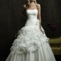 Solid Color Floral Strapless Wedding Dresses : Wholesaleclothing4u.com