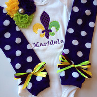 Baby Mardi Gra outfit
