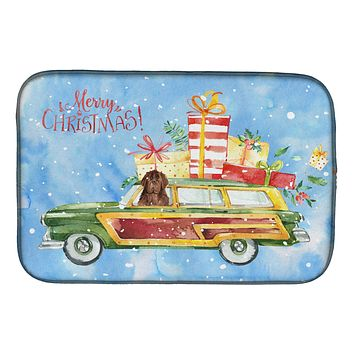 Merry Christmas Newfoundland Dish Drying Mat CK2416DDM