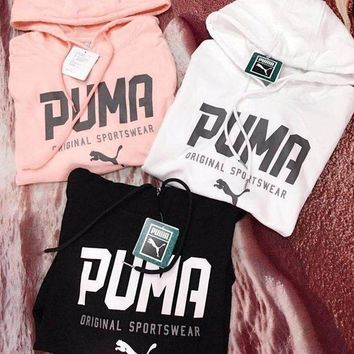 ESBONS PUMA Women Fashion Hooded Top Pullover Sweater Hoodie Sweatshirt
