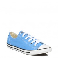 CONVERSE WOMENS BLUE CT DAINTY OX CANVAS TRAINERS