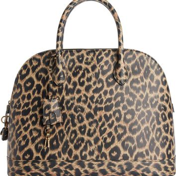Balenciaga Medium Leopard Print Leather Satchel with Water-Repellent Coat | Nordstrom