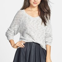 BP. Slubbed Dolman Sleeve V-Neck Sweater (Juniors)