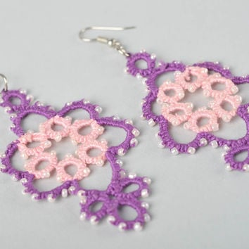 Homemade jewelry lacy earrings designer accessories earrings for women