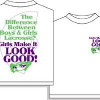 Look Good Girls Lacrosse Short Sleeve T-Shirt - Adult Small