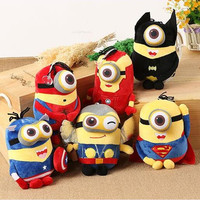 "1pcs 8"" 20cm Minions Cosplay The Avengers Super Hero Spiderman Superman Batman Captain America Ironman Thor Action  Toys for kid"
