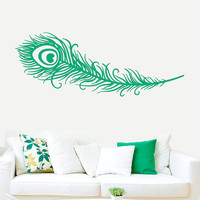 Wall Decal Vinyl Sticker Decals Art Decor Plumage Feather Nib Style Falling Feather Peacock Bird Living room Bedroom Modern Fashion (r404)