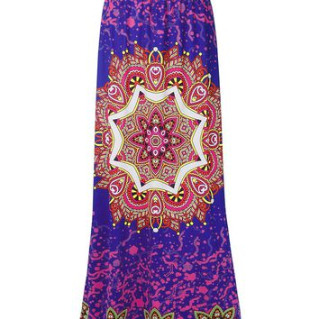 Streetstyle  Casual Captivating Designed Printed Flared Maxi Skirt