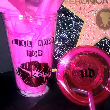 Custom Will Work For Makeup Fruit Infuser Tumbler Cup