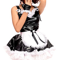 Mica PVC French Maid [pvc085] - £133.26 : The Fantasy Store, Sexy Fantasywear!