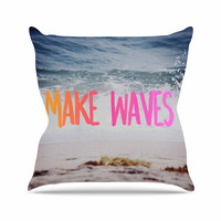 """Chelsea Victoria """"Make Waves"""" Pink Photography Throw Pillow"""