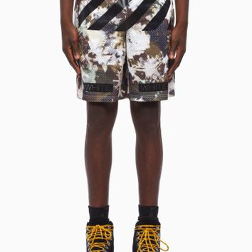 Mesh short from the S/S2016 Off-White c/o Virgil Abloh collection in camouflage