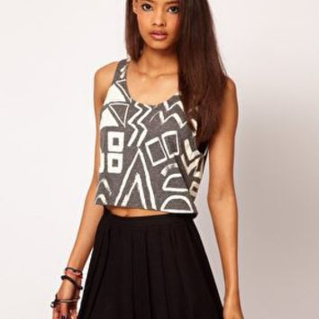 ASOS Vest with Multi Shapes in Texture at asos.com