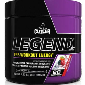 Jay Cutler Legend Berry Splash Pre-Workout Energy & Strength (28 Servings)