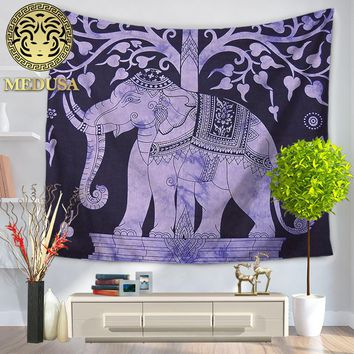 Medusa 2017 boho vintage elephant wall tapestry yoga beach towel as home decor