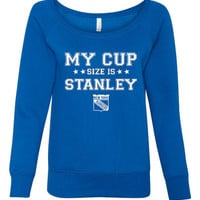 New York hockey fan sweatshirt, cup size is Stanley, ladies pullover, gift for mom, ladies, gift for holiday, Hockey Lovers