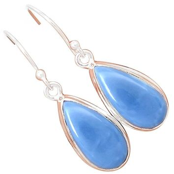 Lovegem Genuine Owyhee Opal Earrings 925 Sterling Silver,35 mm, AE1387
