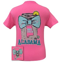 Girlie Girl Originals Alabama Chevron Mason Jar Preppy State Bow Bright T Shirt