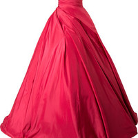 Romona Keveza Strapless Gathered Ballgown - Farfetch